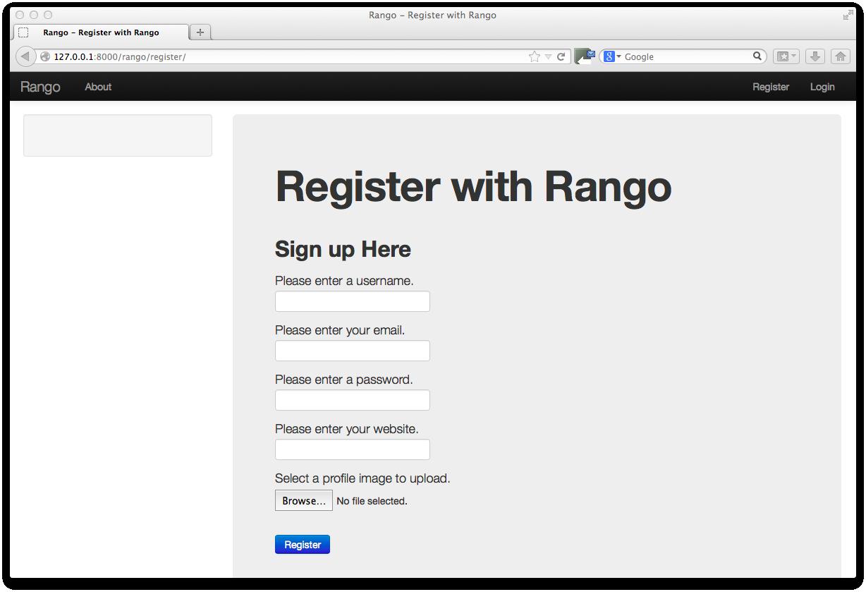 11. Bootstrapping Rango — How to Tango with Django 1.5.4
