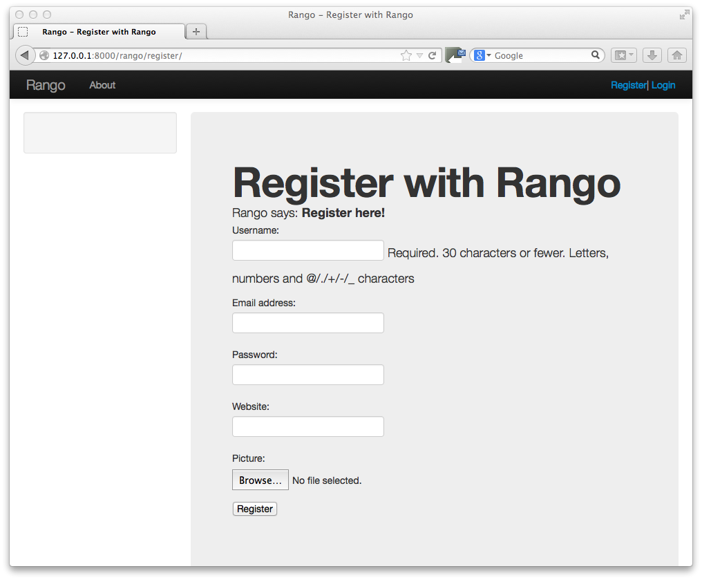 Bootstrapping Rango How To Tango With Django - Bootstrap email template