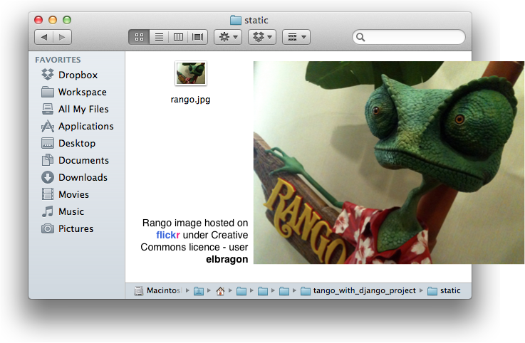 4. Templates and Static Media — How to Tango with Django 1.5.4