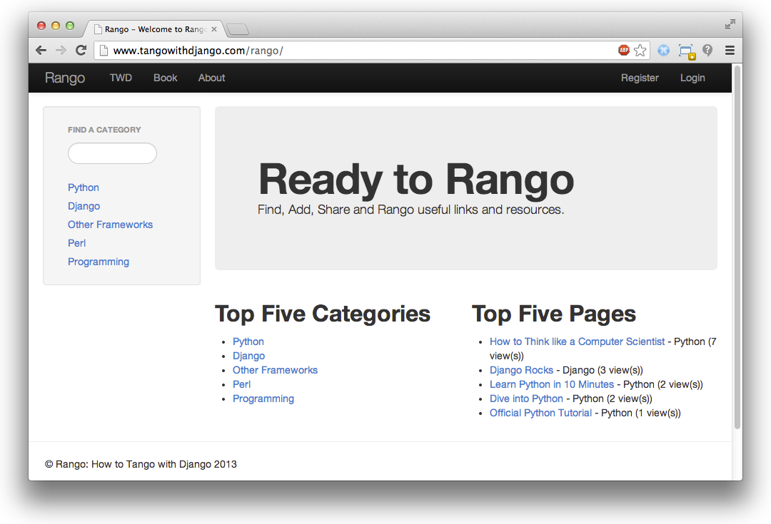 2  Overview — How to Tango with Django 1 7
