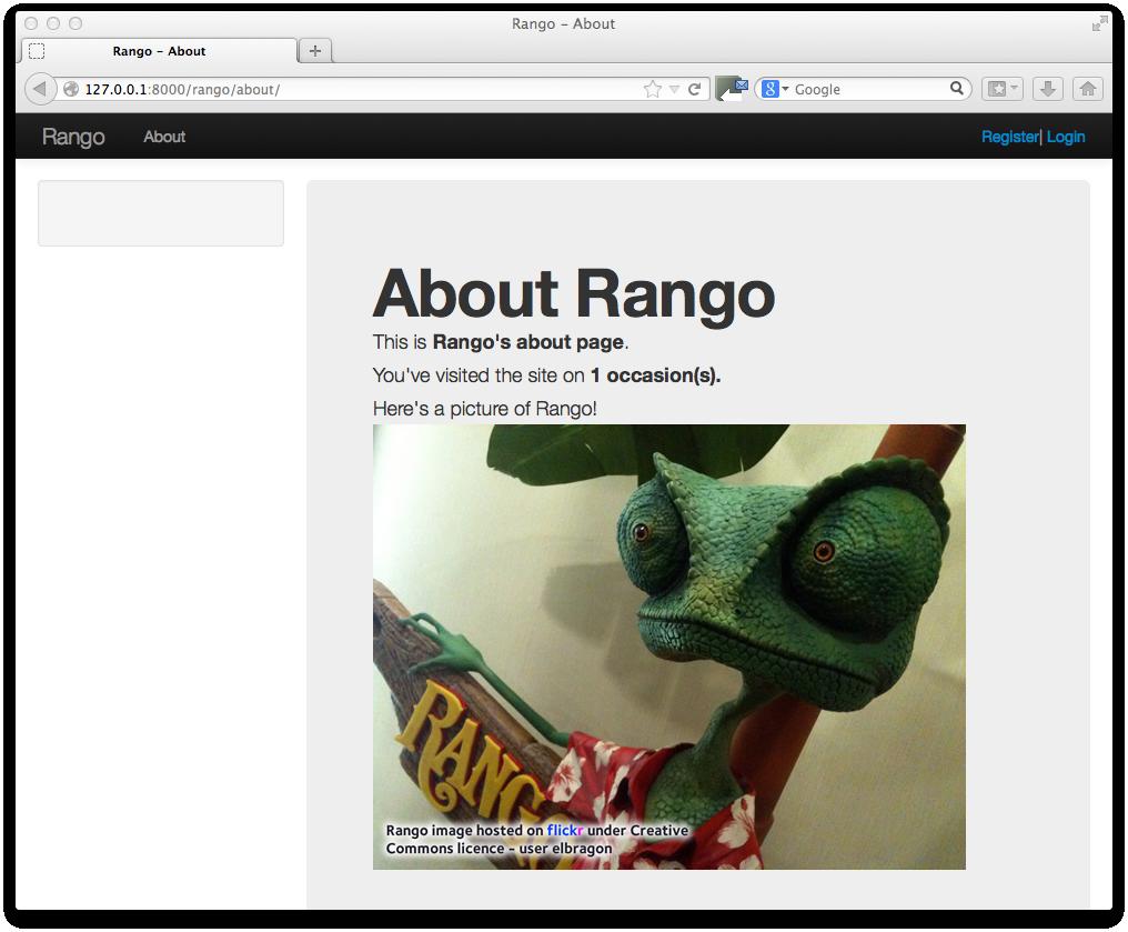 13. Bootstrapping Rango — How to Tango with Django 1.7