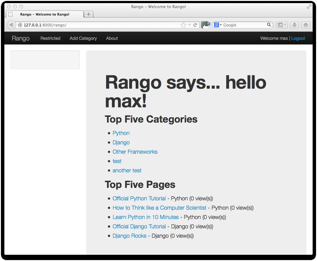 13  Bootstrapping Rango — How to Tango with Django 1 7